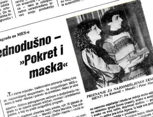 "UNANIMOUSLY – ""MASKA I POKRET"""