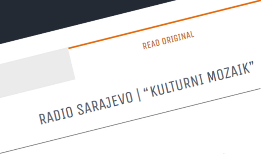 Press: Theatre Maska i Pokret - Somebody has Killed the Play - Radio Sarajevo Cultural Mosaic