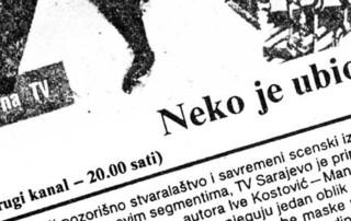 Pres: Teatar Maska i Pokret - Neko je ubio pjesmu - NEKO JE UBIO PJESMU NA TV - TV Sarajevo