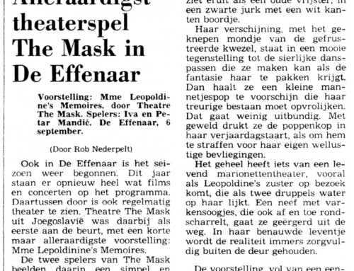 MOST CHARMING THEATRE PLAY – THE MASK IN DE EFFENAAR