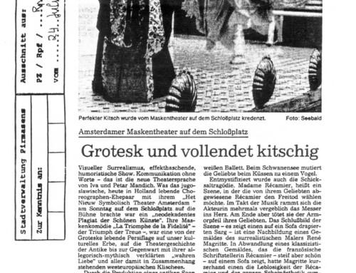 GROTESK UND VOLLENDET KITSCHIG