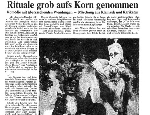 RITUALE GROB AUFS KORN GENOMMEN