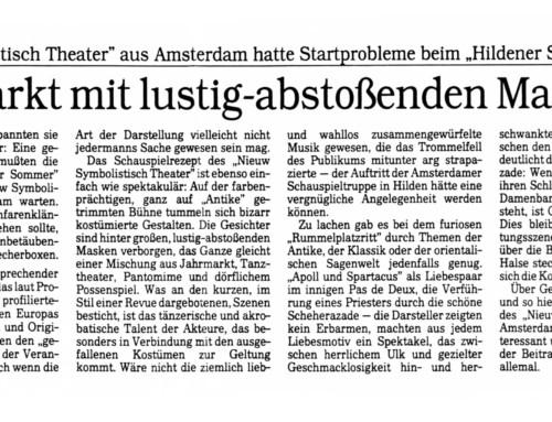 """""""NIEUW SYMBOLISTISCH THEATER"""" AUS AMSTERDAM BEIM """"HILDENER SOMMER"""""""