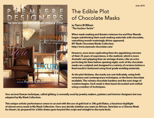 The Edible Plot of Chocolate Masks